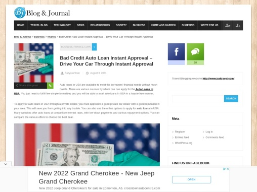 Bad Credit Auto Loan Instant Approval – Drive Your Car Through Instant Approval
