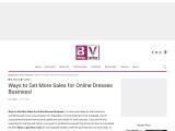 Summer Dresses – Some Useful Ways To Get More Sales For Online Dresses Business!