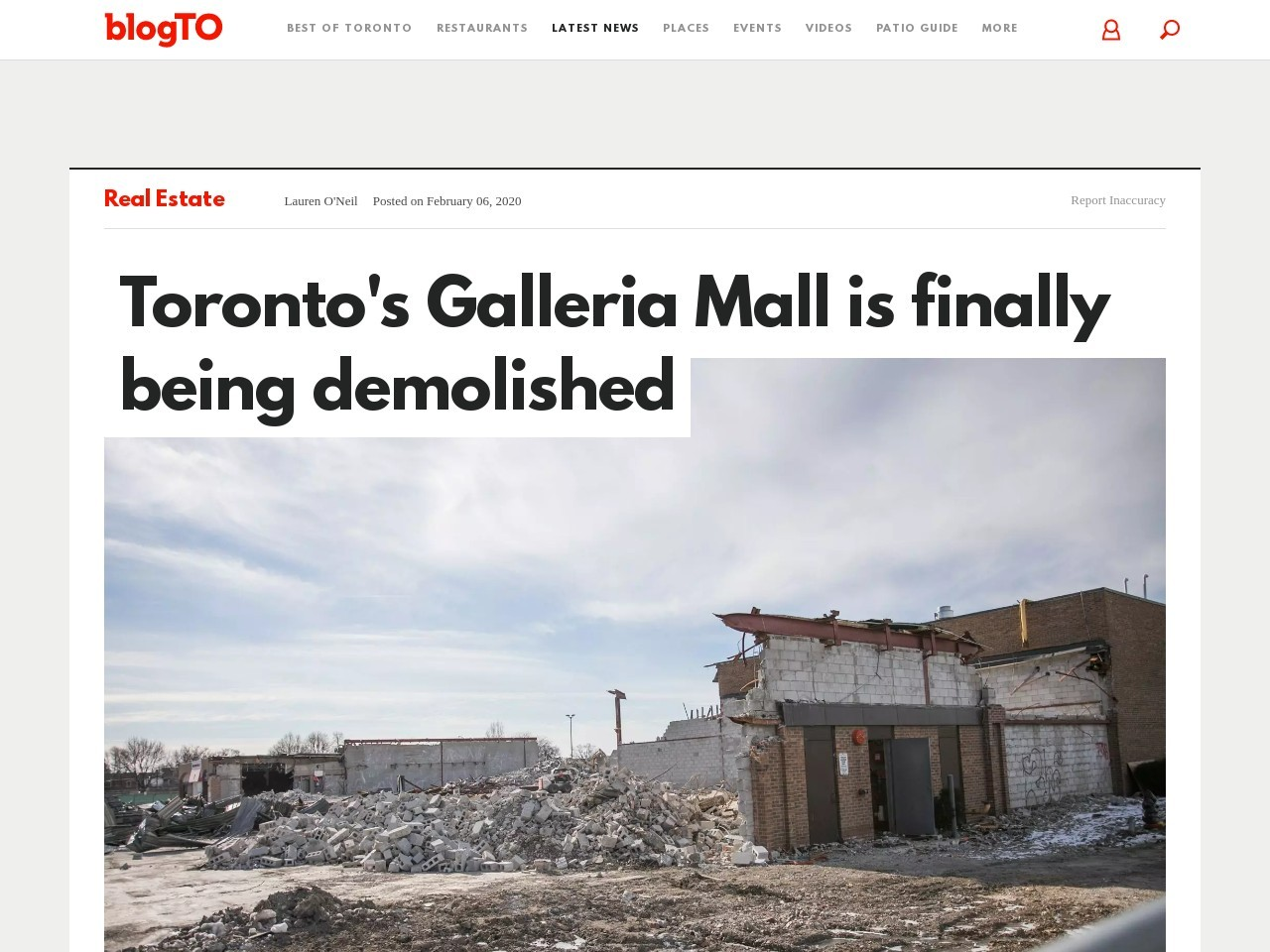 Toronto's Galleria Mall is finally being demolished
