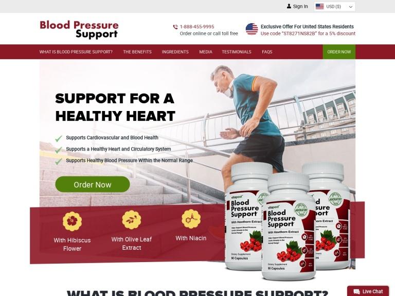 Blood Pressure Support screenshot