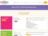 Book a Party – Bloom Learning centre