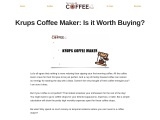 Krups Coffee Maker: Is it worth buying?