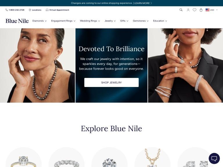 Blue Nile Promo Codes & Refer a Friend Offer screenshot