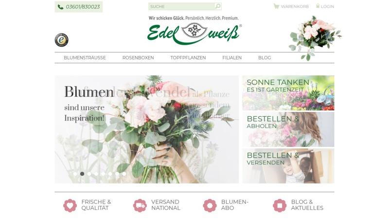 www.blumenversand-edelweiss.de Vorschau, Blumenversand Edelweiß