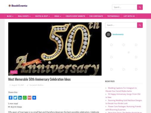 Most Memorable 50th Anniversary Celebration Ideas