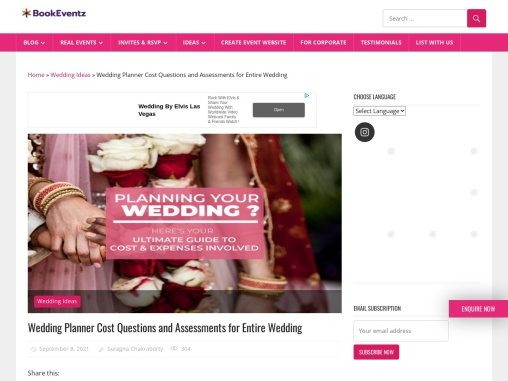Wedding Planner Cost Questions and Assessments for Entire Wedding