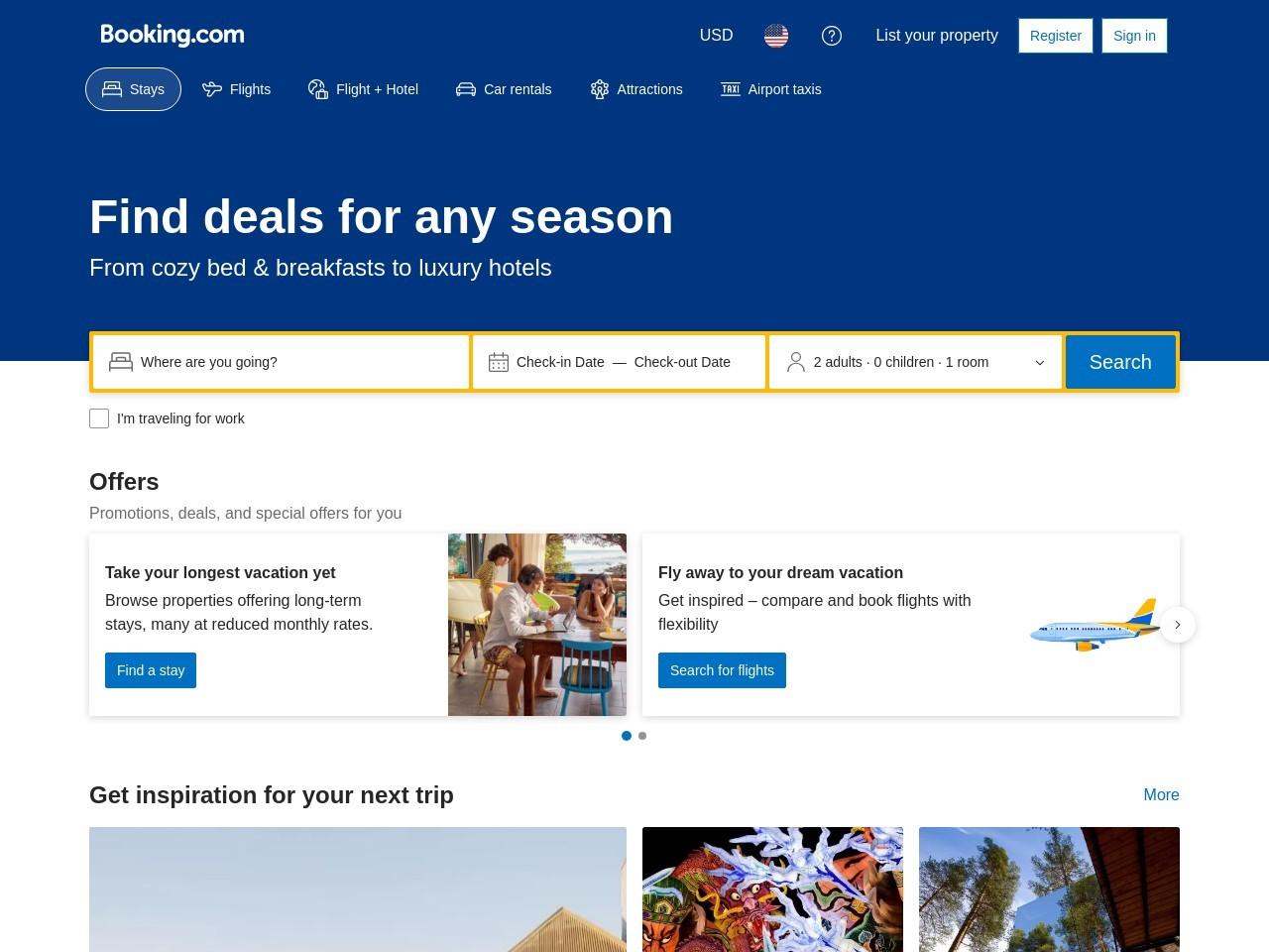 世界最大の宿泊予約サイト、Booking.com