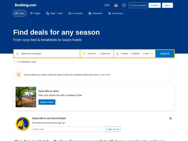 Booking.com | 使いやすいから安宿を探せる宿泊施設予約サイト