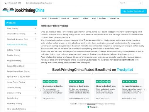 Novel Printing High Quality Hardcover Book Printing