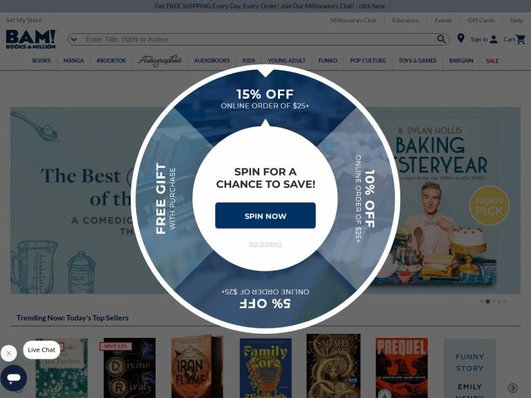 Booksamillion.com Coupon Codes & Promo codes