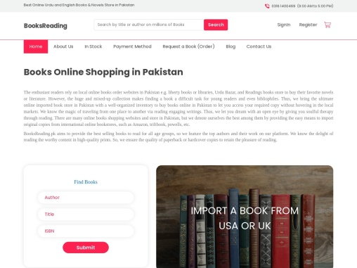 online books shopping buy imported books in Pakistan