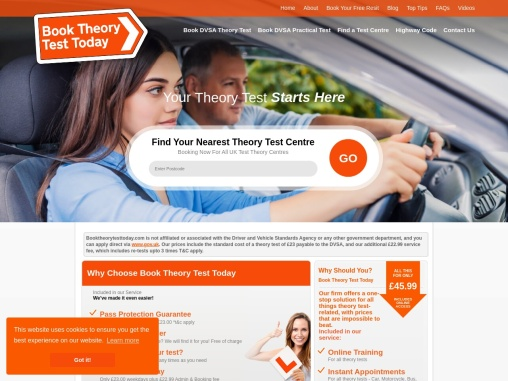 Driving Test Theory Booking   Book Theory Test Today