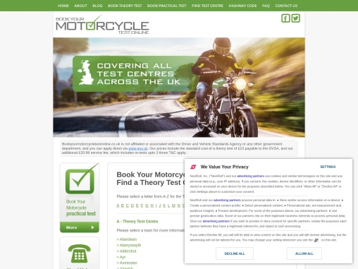Book Motorbike Theory Test Now | Book Your Motorcycle Test Online
