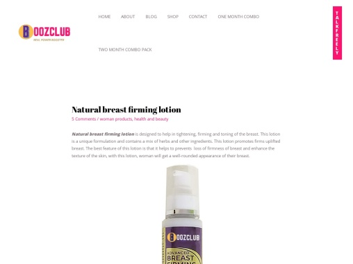 Natural breast firming lotion is designed to help in tightening, firming and toning of the breast.
