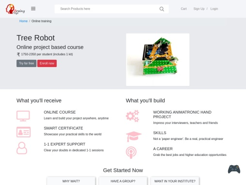 Online Programming Tree Bot Project Course – Brainy Toys