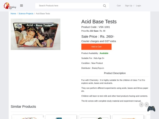 Buy Acid Base Tests Science Project – Robotic Science Project for Kids & Students Online