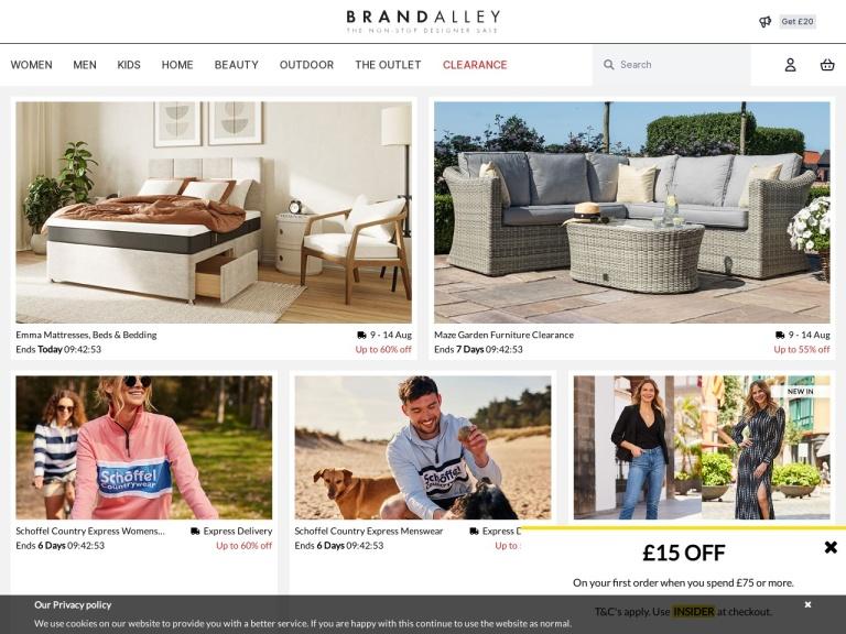 BrandAlley Promotion Codes & Referral Code screenshot