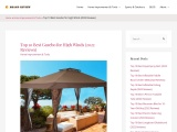 How To Find The Best Gazebo For Top Winds