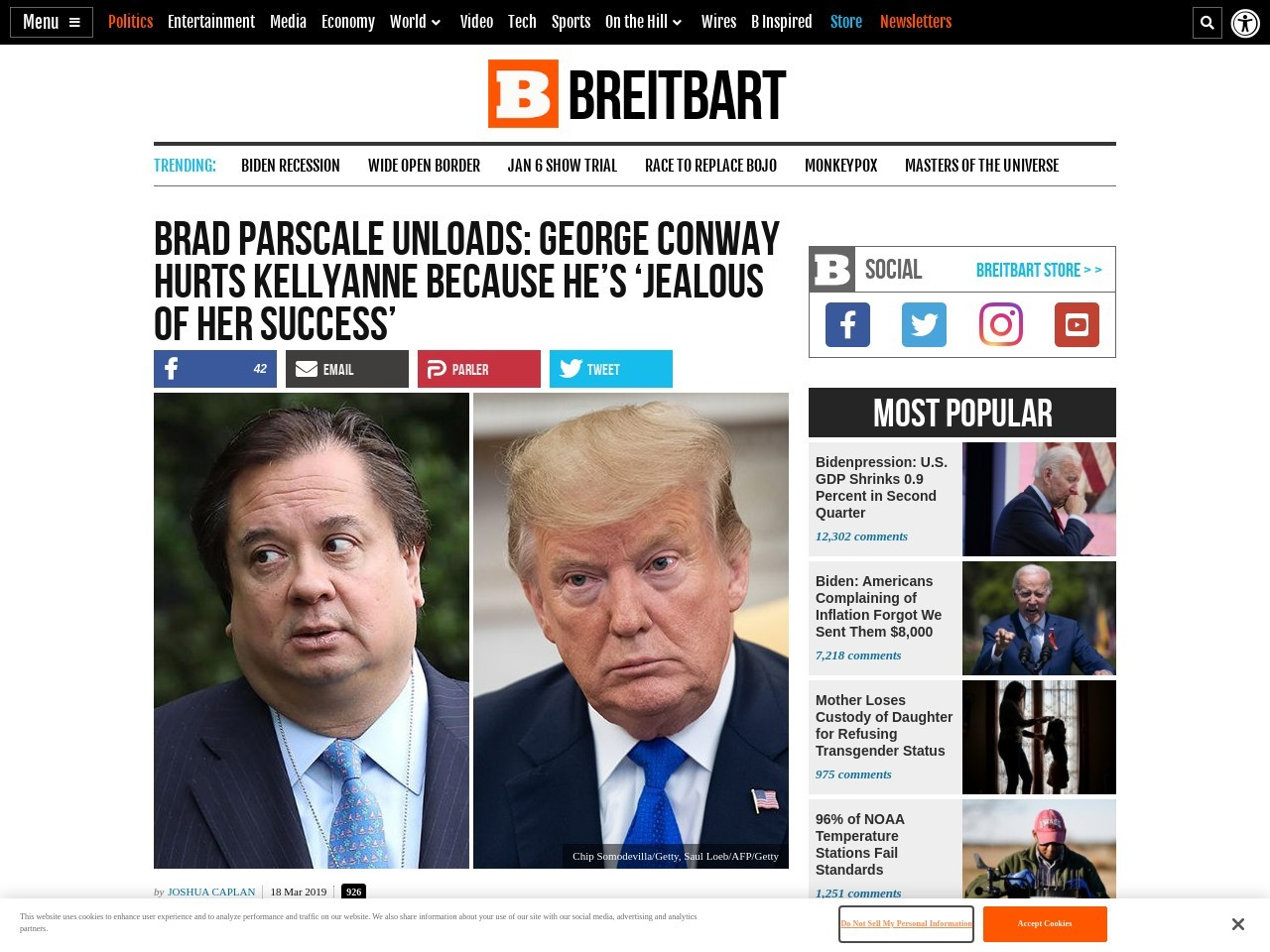 Brad Parscale: George Conway Hurts Kellyanne Because He's 'Jealous'