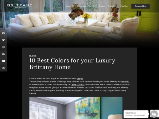 Importance of Color in the Interiors of your Brittany Home