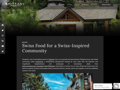 Philippine Real Estate Inspired by Switzerland
