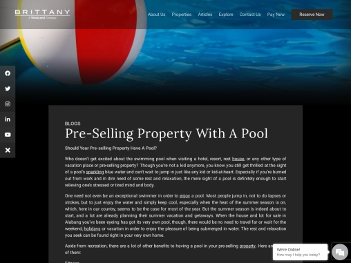 Pre-Selling Property With A Pool