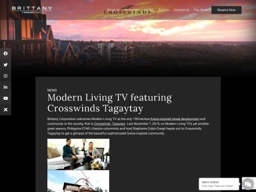 Modern Living TV featuring Crosswinds