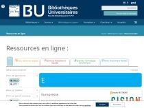 Ressource en ligne BU UPJV = Europresse