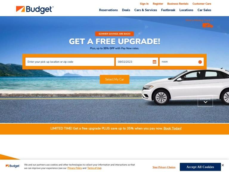 Budget Rent A Car screenshot