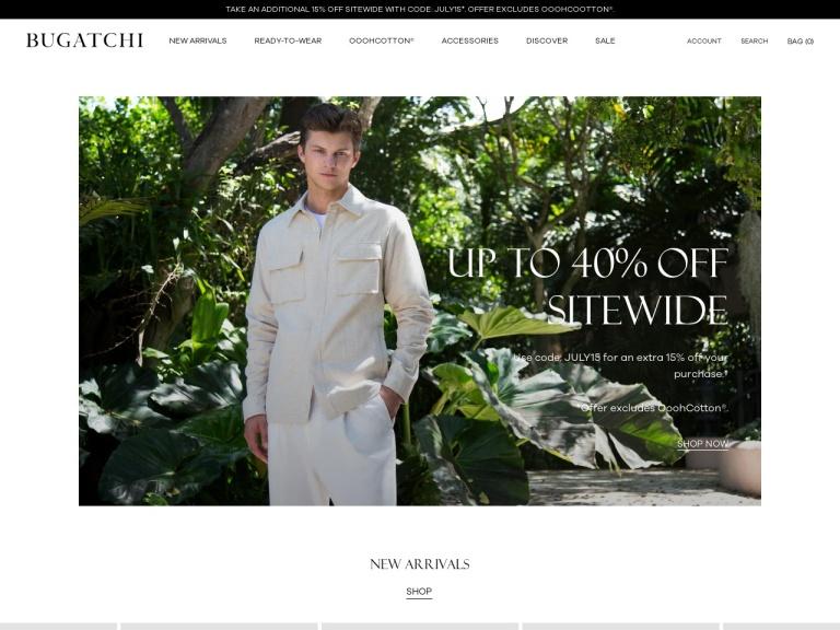 Bugatchi screenshot