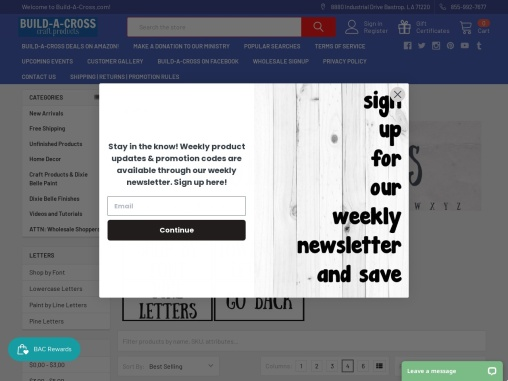 Wooden Craft Letters – Unfinished