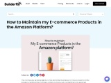 How to Maintain my E-commerce Products in the Amazon Platform?