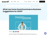 What are Some Good Ecommerce Business Suggestions for 2020?