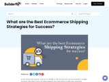 What are the Best Ecommerce Shipping Strategies for Success?