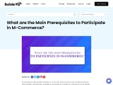 What are the Main Prerequisites to Participate in M-Commerce?