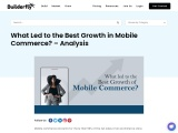 What Led to the Best Growth in Mobile Commerce? – Analysis