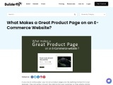 What Makes a Great Product Page on an E-Commerce Website?