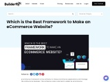 Which is the Best Framework to Make an eCommerce Website?