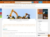 Types of Machinery used in Construction