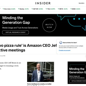Amazon CEO Jeff Bezos's Secret to More Efficient Meetings