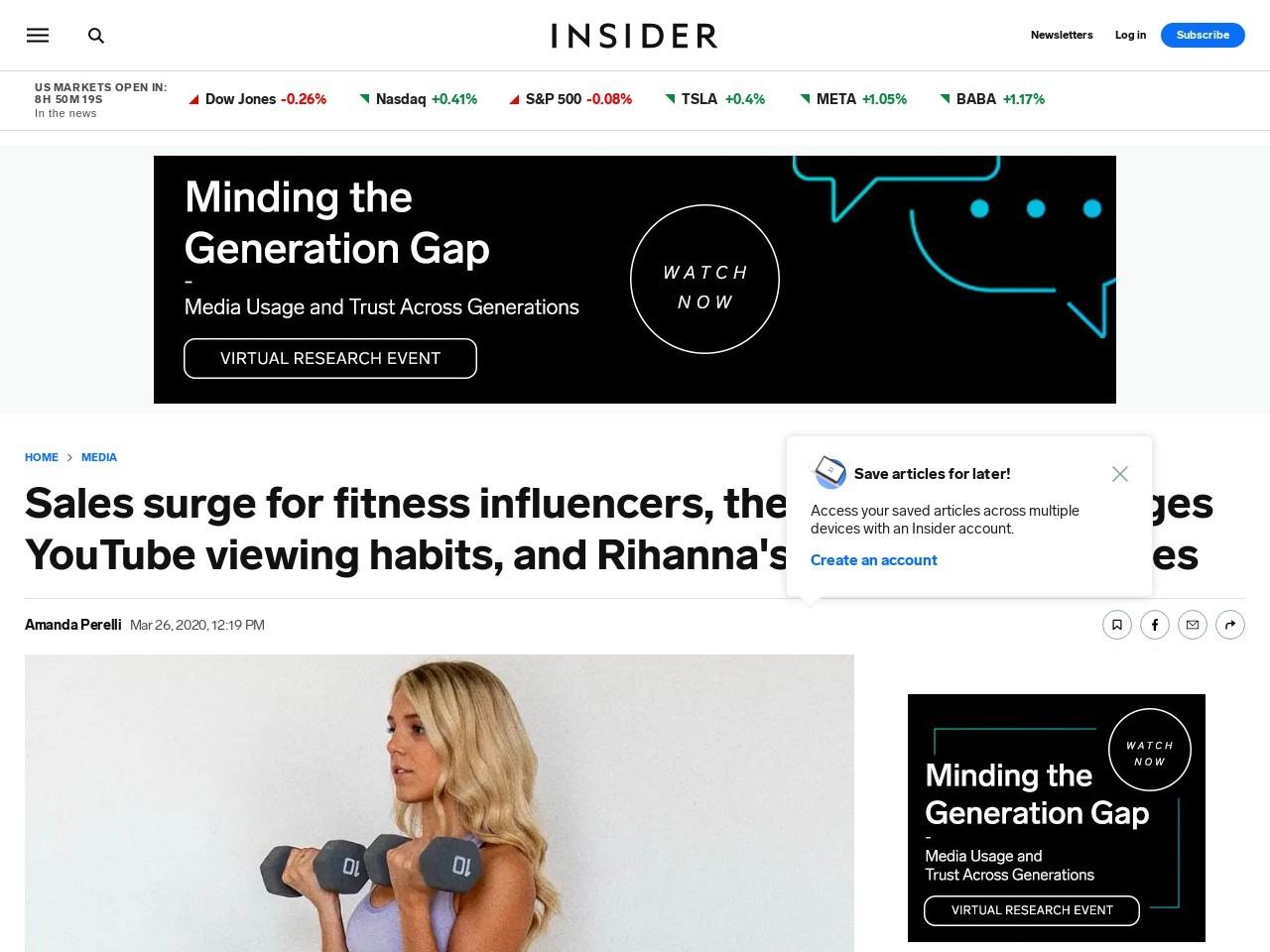 YouTube and influencer business trends newsletter March 26 – Business Insider
