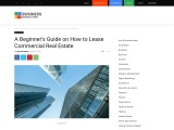 A Beginner's Guide on How to Lease Commercial Real Estate