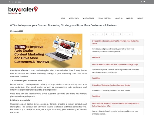 6 Tips To Improve Your Content Marketing Strategy And Drive More Customers & Reviews