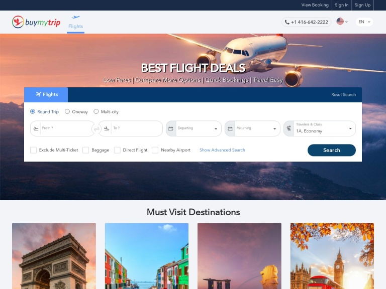 BuyMyTrip screenshot