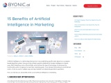 15 Benefits of Artificial Intelligence in Marketing