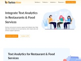 Text Analytics for Restaurant & Food Services
