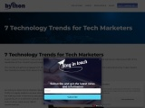 7 Technology Trends for Tech Marketers