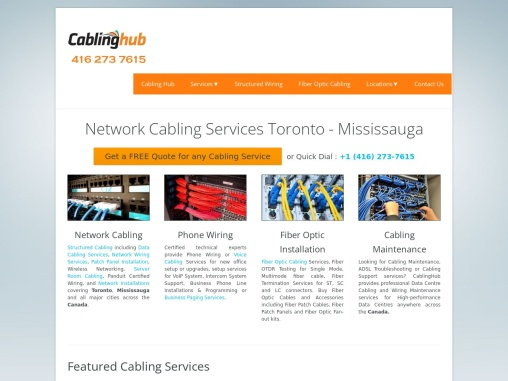 Network Cabling Installation Services Provider Toronto
