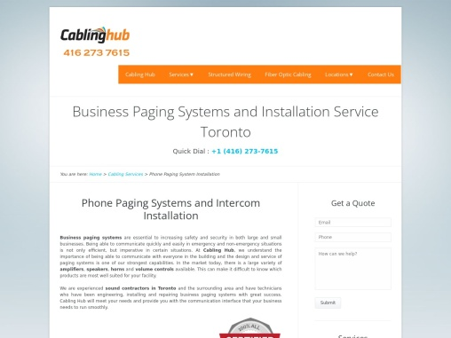 Business Paging System Installation Service