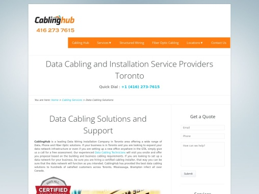 Data Cabling Support and Services Toronto Canada
